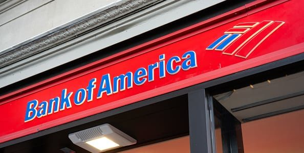 NEW YORK CITY, UNITED STATES - 2020/02/17: Bank of America logo seen in Lower Manhattan. (Photo by Alex Tai/SOPA Images/LightRocket via Getty Images)