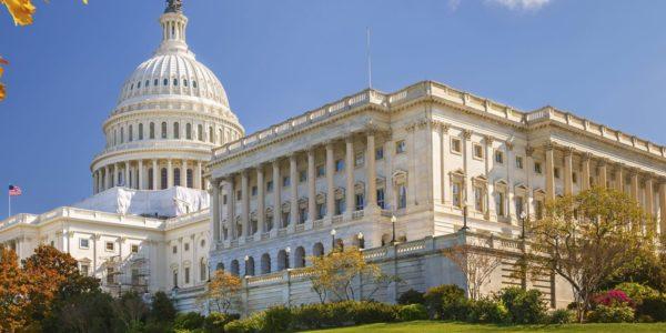 Us Capitol Building At Washington Dc Top